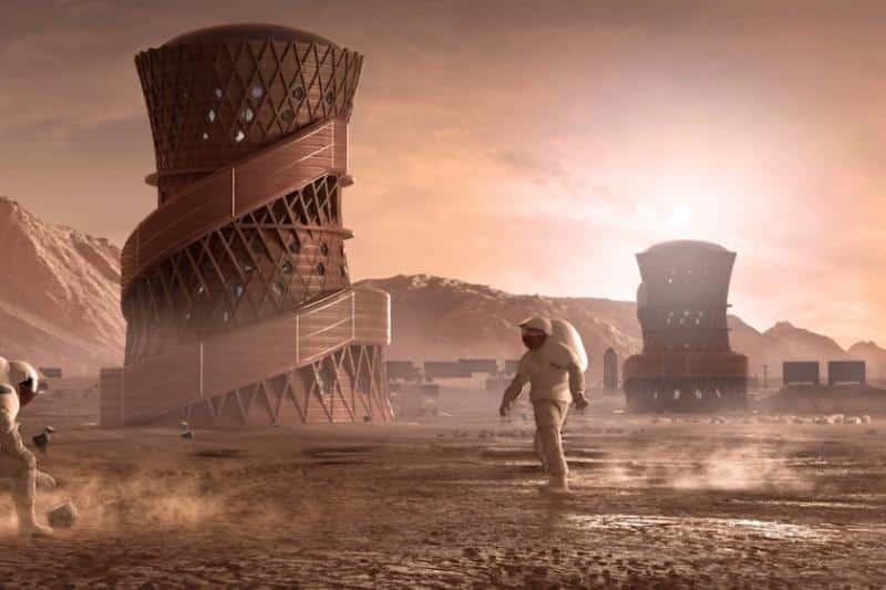 astronautas en Marte