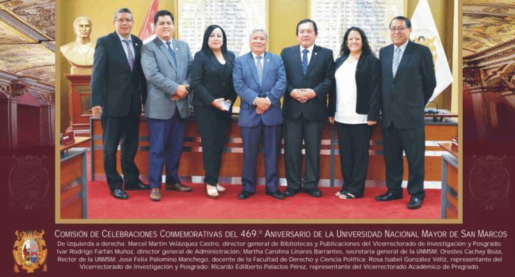 Comisión de celebraciones del 469 aniversa UNMSM
