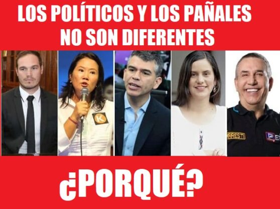 LOS POLITICOS Y LOS PAÑALES