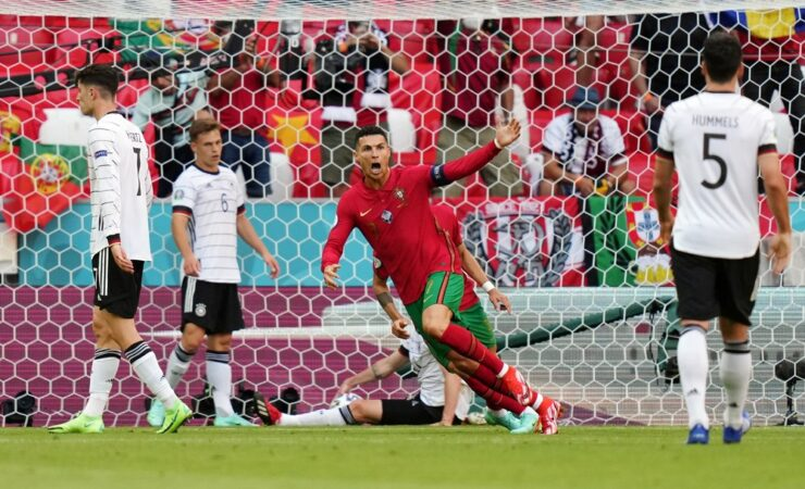 CR7 alcanza los 28 km/h y corre 99m en 14s en gol de Portugal contra Alemania